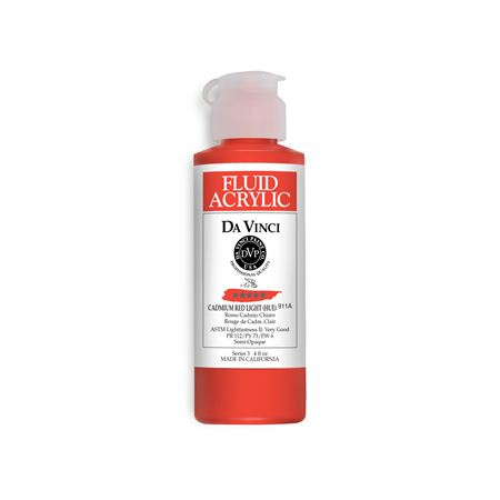(09) Cadmium Red Light (Hue) (4oz Fluid Acrylic)