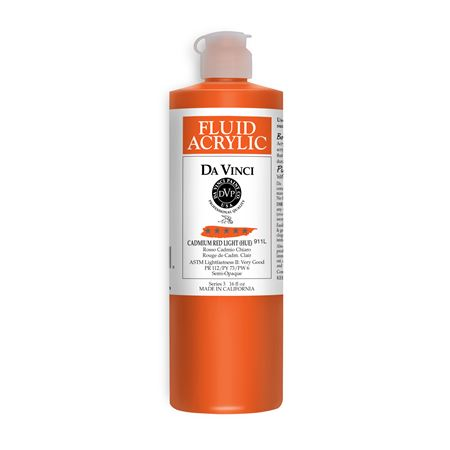 (09) Cadmium Red Light (Hue) (16oz Fluid Acrylic)