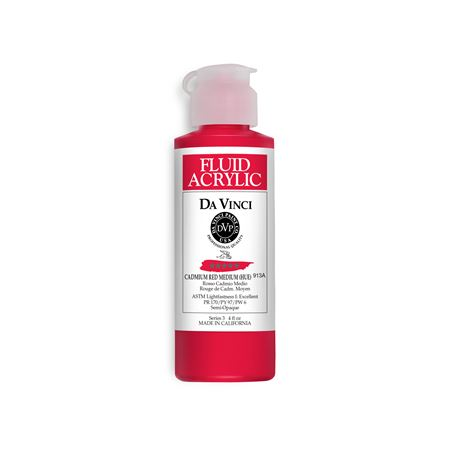 (10) Cadmium Red Medium (Hue) (4oz Fluid Acrylic)