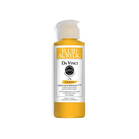 (05) Cadmium Yellow Medium (Hue) (4oz Fluid Acrylic)