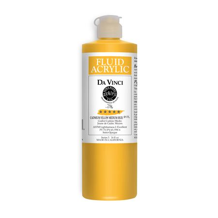 (05) Cadmium Yellow Medium (Hue) (16oz Fluid Acrylic)