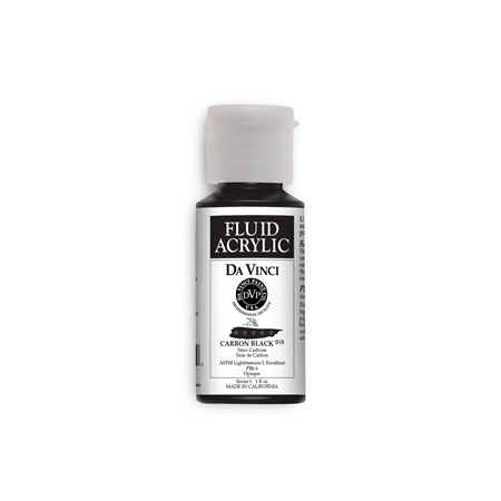 (50) Carbon Black (1oz Fluid Acrylic)