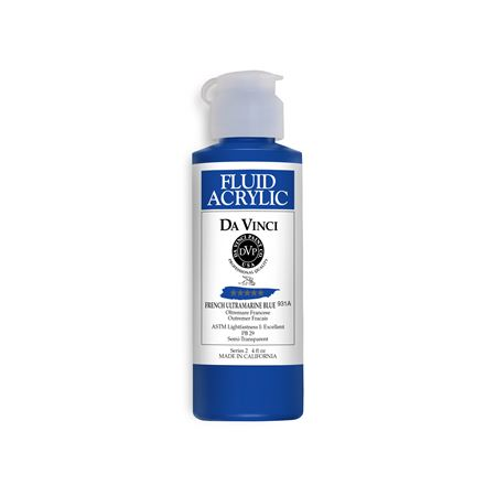 (22) French Ultramarine Blue (4oz Fluid Acrylic)