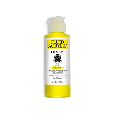 (02) Hansa Yellow Light (4oz Fluid Acrylic)