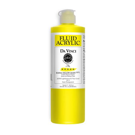 (02) Hansa Yellow Light (16oz Fluid Acrylic)