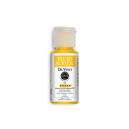 (04) Hansa Yellow Medium (1oz Fluid Acrylic)