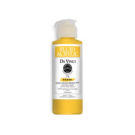 (04) Hansa Yellow Medium (4oz Fluid Acrylic)