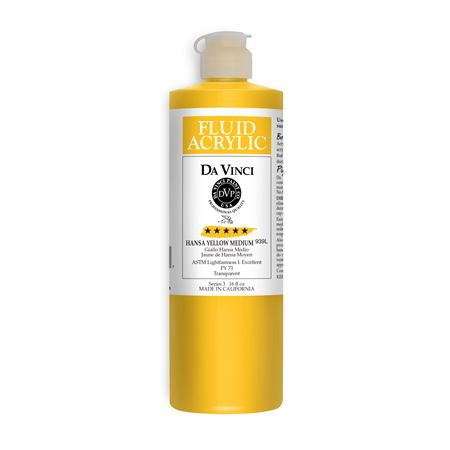 (04) Hansa Yellow Medium (16oz Fluid Acrylic)