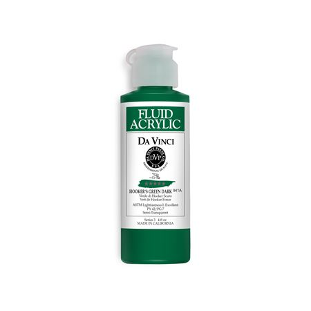(33) Hooker's Green Dark (4oz Fluid Acrylic)
