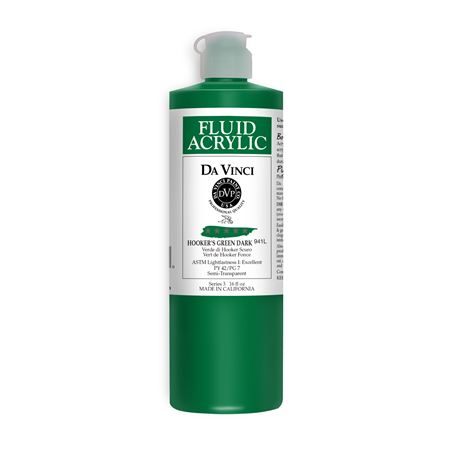 (33) Hooker's Green Dark (16oz Fluid Acrylic)