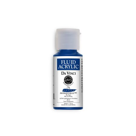 (26) Phthalo Blue (1oz Fluid Acrylic)