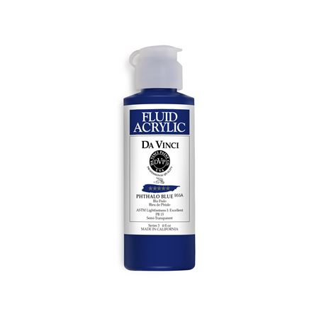 (26) Phthalo Blue (4oz Fluid Acrylic)
