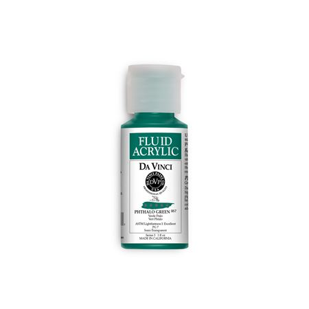 (32) Phthalo Green (1oz Fluid Acrylic)