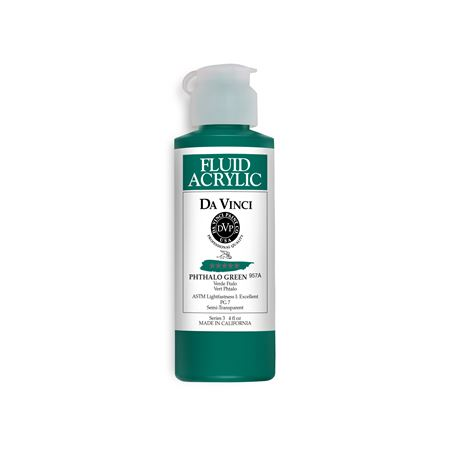(32) Phthalo Green (4oz Fluid Acrylic)