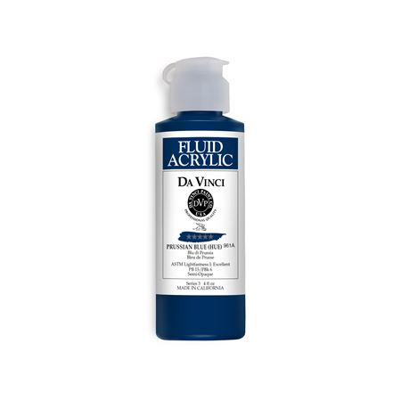 (25) Prussian Blue (Hue) (4oz Fluid Acrylic)