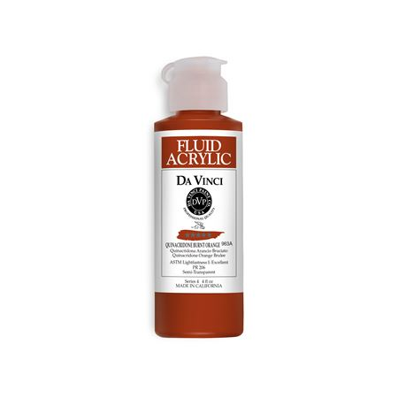 (42) Quinacridone Burnt Orange (4oz Fluid Acrylic)