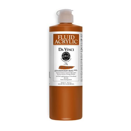 (42) Quinacridone Burnt Orange (16oz Fluid Acrylic)