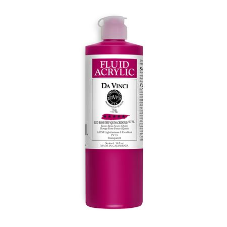 (14) Red Rose Deep (16oz Fluid Acrylic)