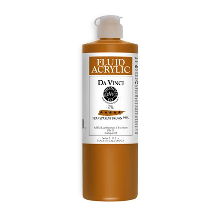 (43) Transparent Brown (16oz Fluid Acrylic)