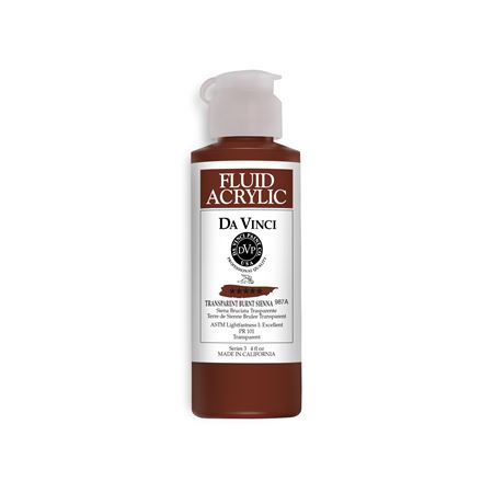 (41) Transparent Burnt Sienna (4oz Fluid Acrylic)
