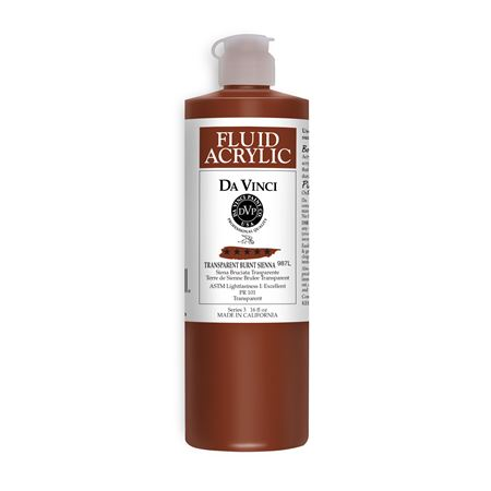 (41) Transparent Burnt Sienna (16oz Fluid Acrylic)