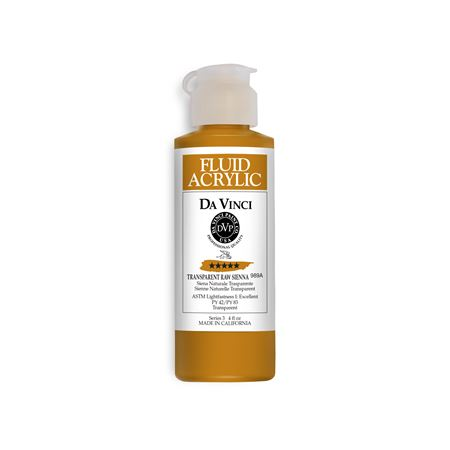 (38) Transparent Raw Sienna (4oz Fluid Acrylic)