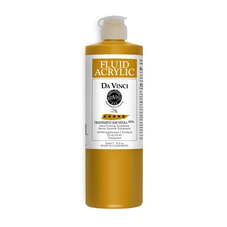 (38) Transparent Raw Sienna (16oz Fluid Acrylic)