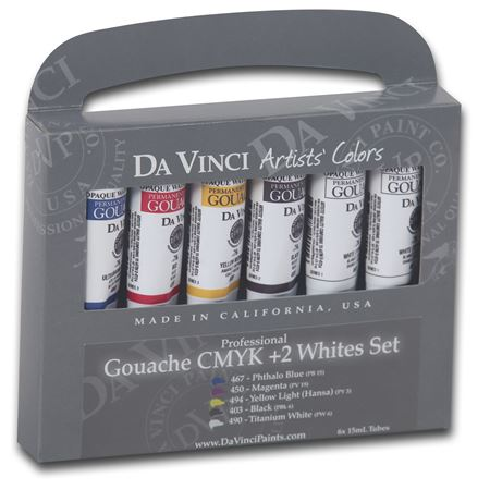 <!(--0007)--> Gouache CMYK + 2 Whites Set