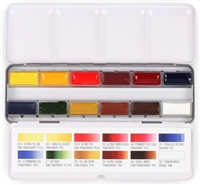 Watercolor 12-Full Pan Travel Tin