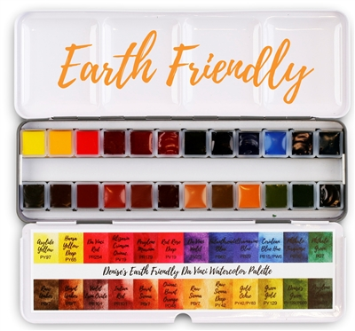 <!(--#2)--> Denise's Earth Friendly Da Vinci Watercolor Palette