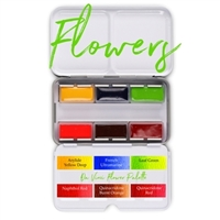 <!(--#01)--> Watercolor Flower Pan Palette