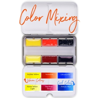 <!(--#01)--> Watercolor Mixing Pan Palette