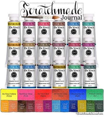 <!(--#7)--> Scratchmade Da Vinci Watercolor Refill Set