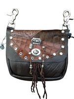 Mahogany Double Pocket Prem Hip Bag