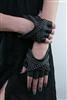 X Glam Leather Fingerless Gloves