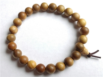 Gold Phoebe Wood Wrist Mala