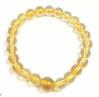 Citrine Wrist Mala Beaded Bracelet - Prayer Bracelet