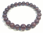 Garnet Beaded Bracelet - Wrist Mala Prayer Beads 8mm