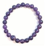A Grade Amethyst Beaded Bracelet - Wrist Mala - Prayer Beads