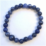 Sodalite Stretchy Beaded Bracelet - Wrist Mala Prayer Beads 8mm