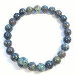 African Turquoise Stretchy Beaded Bracelet - Wrist Mala Prayer Beads - 8mm