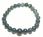 Moss Agate Beaded Bracelet - Wrist Mala Prayer Beads 8mm