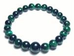 Green Tiger's Eye Beaded Bracelet Wrist Mala 8mm