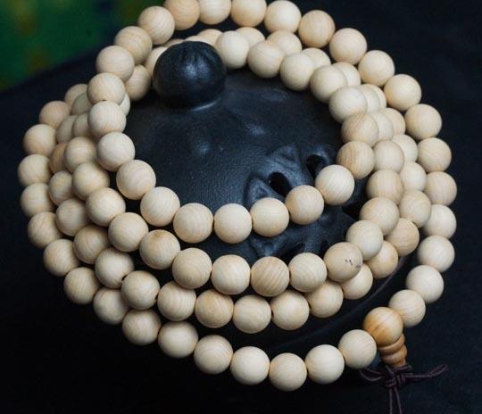Cypress Wood 108 Bead Mala Prayer Beads - 8mm (1 Pack)
