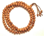 Jujube Wood Beaded Prayer Bracelet - Wrist Mala w/ Om Symbol and Hidden Kuan Yin.