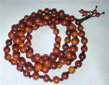Dragon Blood Wood Knotted 108 Bead Mala