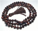 Red Tigers Eye Knotted 108 Bead Buddhist Mala