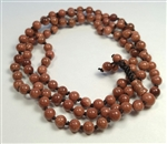 Stretchy Goldstone Beaded Bracelet - Prayer Beads