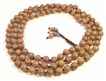Knotted Phoenix Tail Wood 108 Bead Mala - Prayer Beads - 6mm