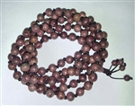 Purpleheart Wood Knotted 108 Bead Mala